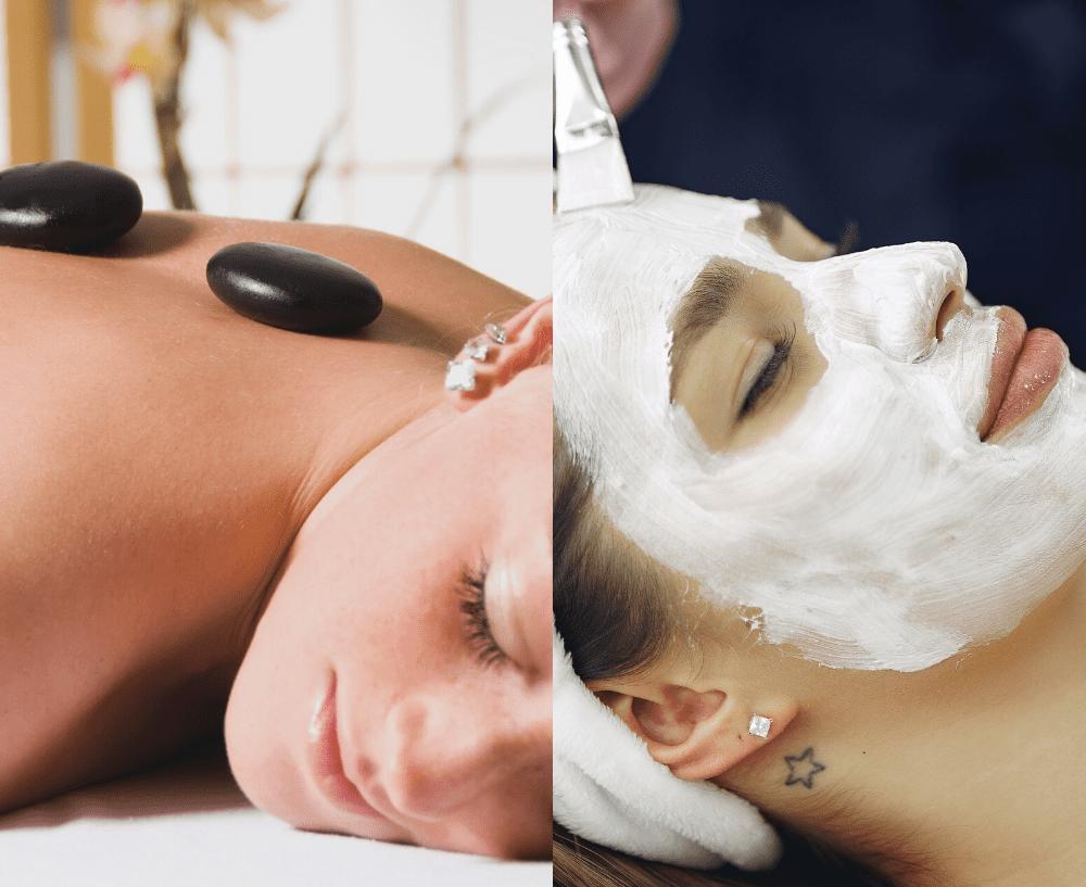hot stone massage og ansigtsbehandling