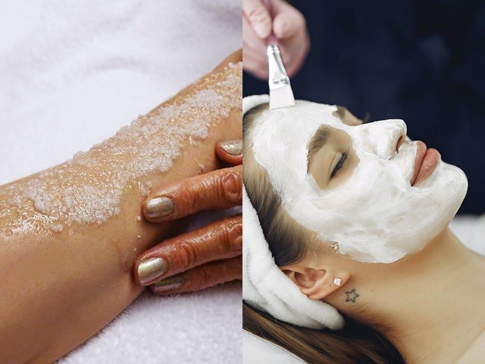 Body scrub og ansigtsbehandling