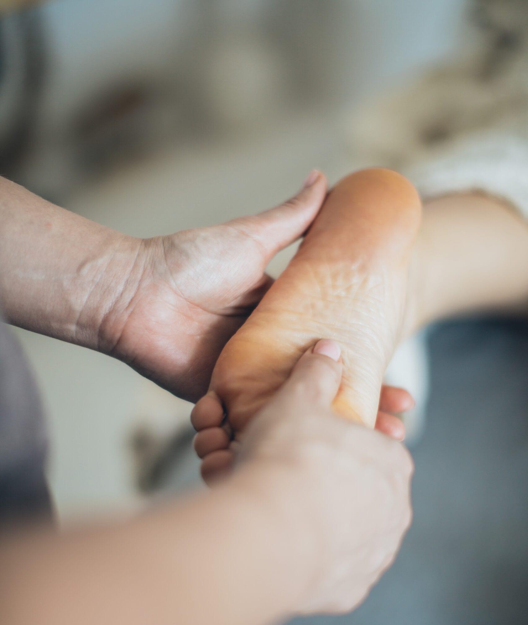 Massage på fod