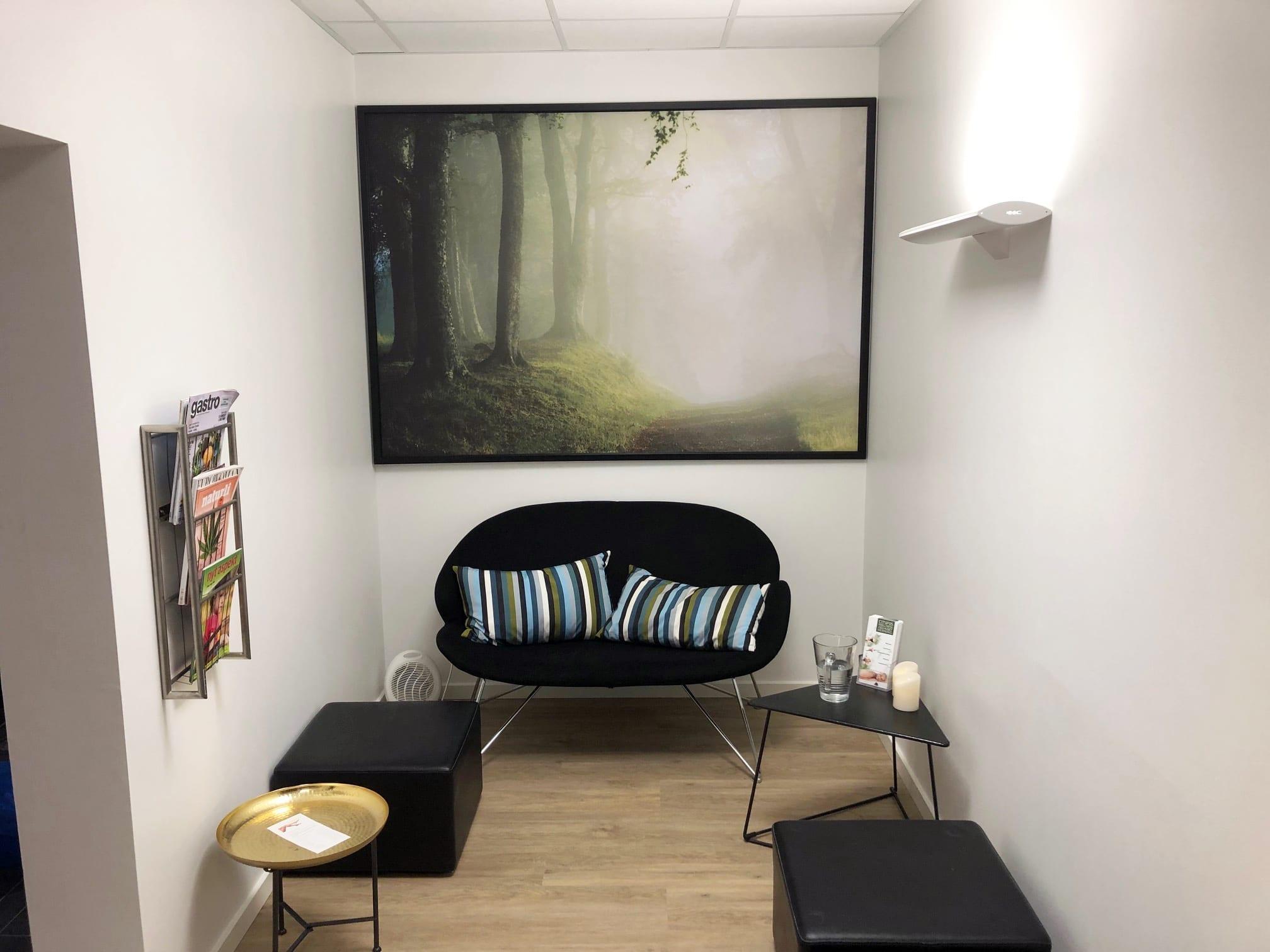 Venteværelset i CityFys Wellness i DGI Huset Herning