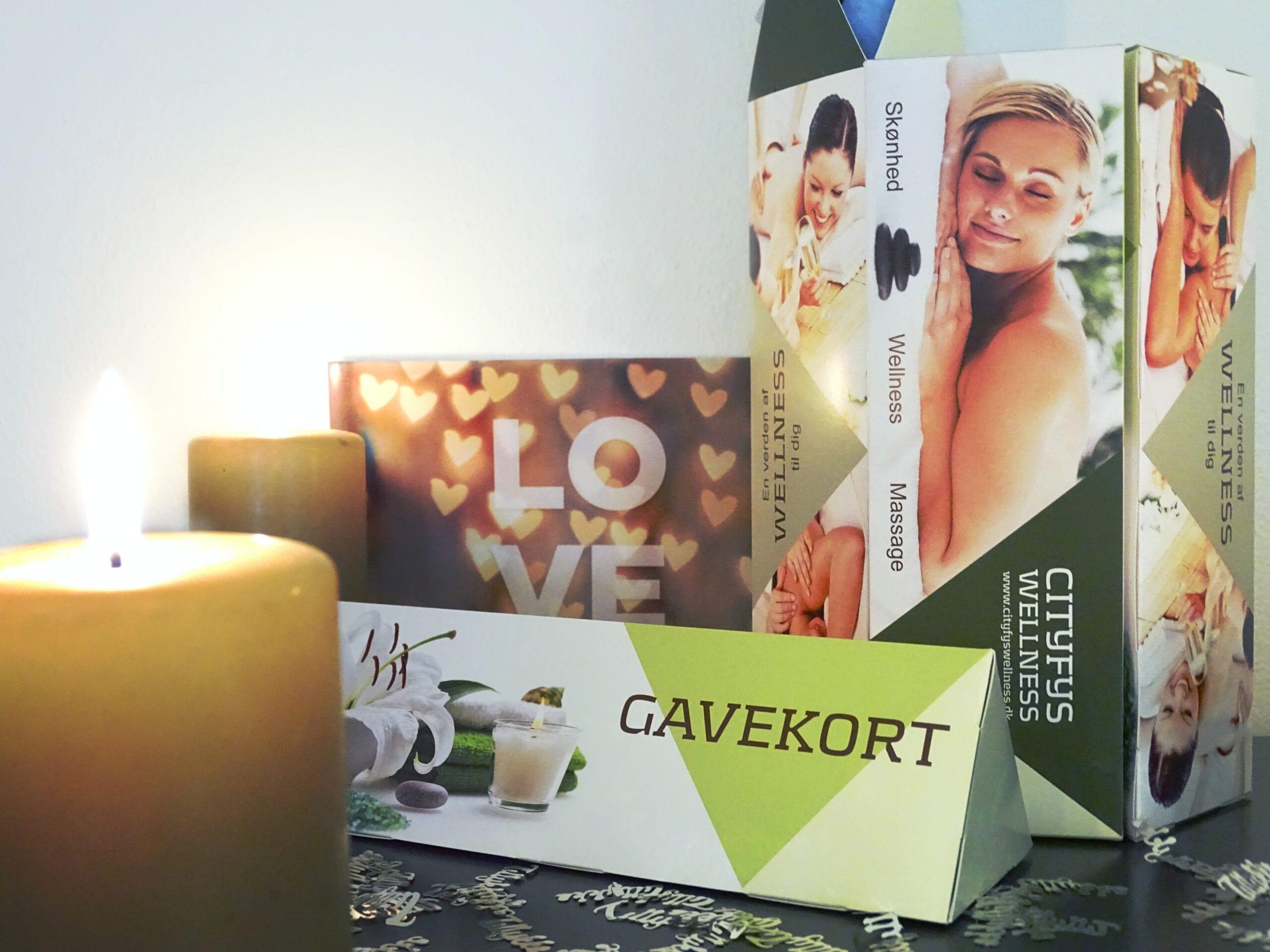 Gaveæske til gavekort i CityFys Wellness